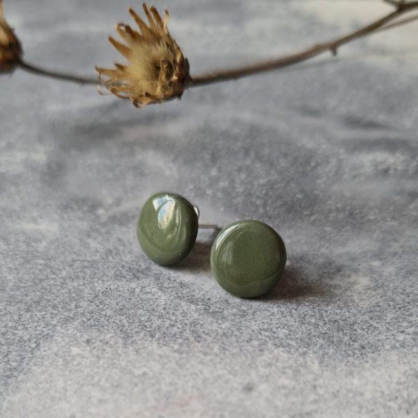 Ohrstecker olive
