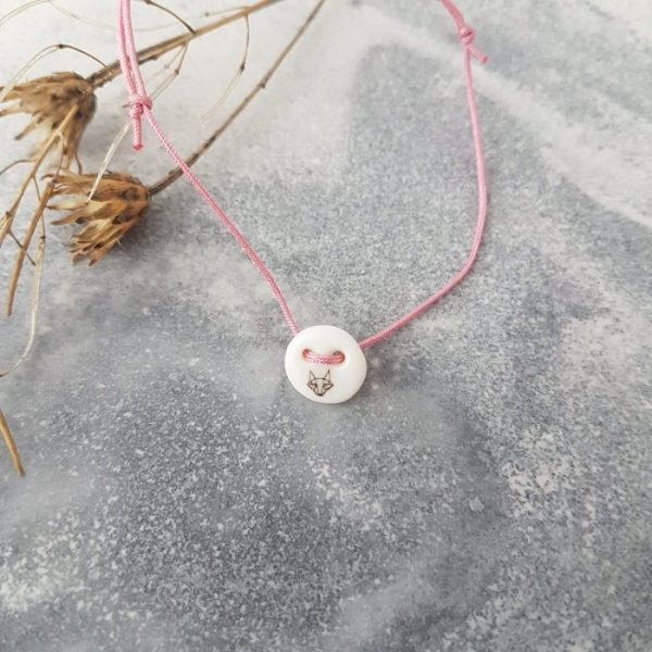 armband fuchs rosa