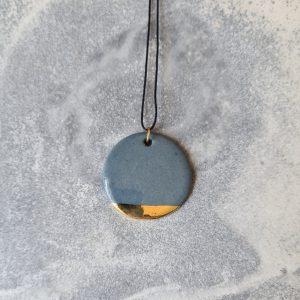 Kette circle grau gold
